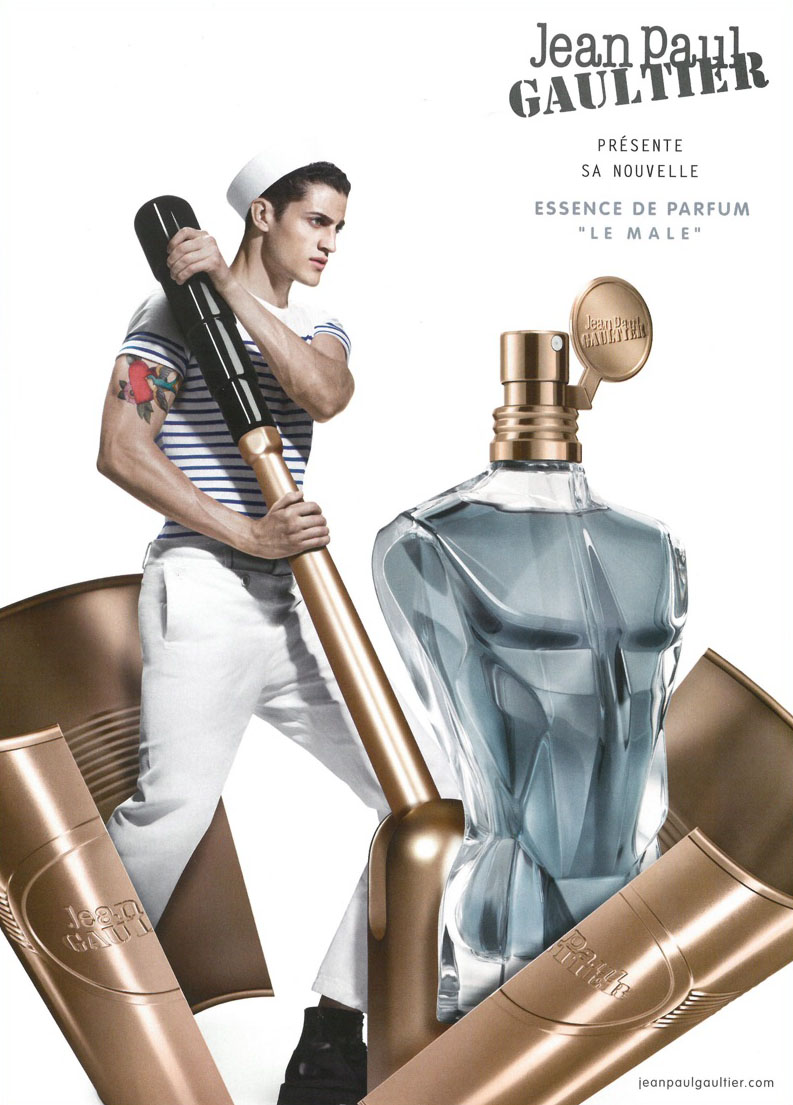 Jean Paul Gaultier 2016 Le Male Essence de Parfum Fragrance Campaign